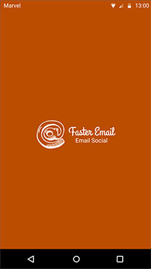 Tela de entrada do app FasterEmail