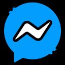 Ícone vetorial de contato pelo Facebook Messenger