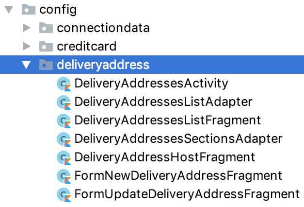 Estrutura física do pacote /deliveryaddress