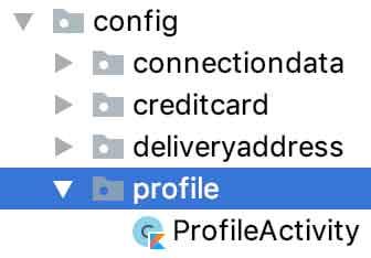 Estrutura física do pacote /profile
