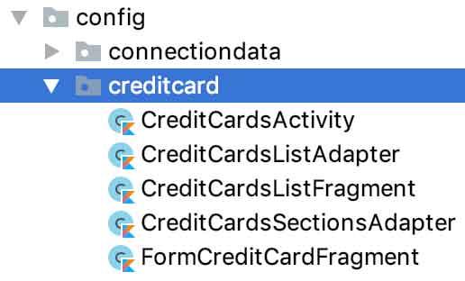 Estrutura física do pacote /creditcard