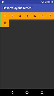 FlexboxLayout com o atributo showDividerVertical igual beginning