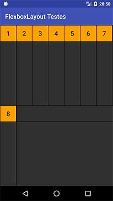 FlexboxLayout com o atributo alignItems igual baseline