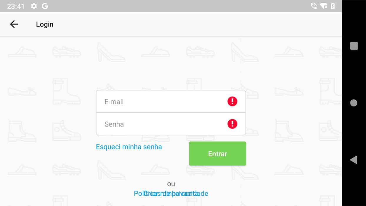 Sobreposição de links em formulário