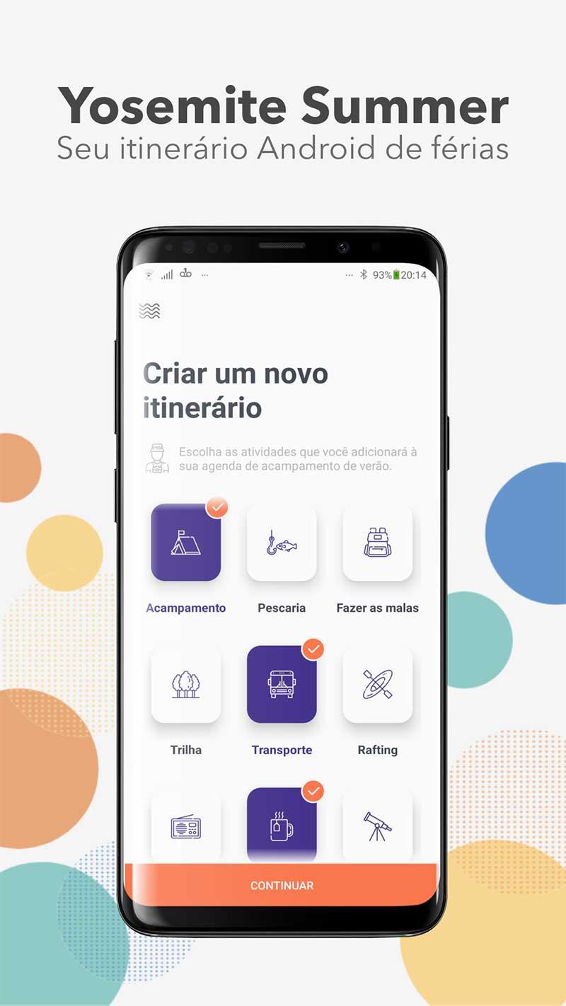 Apresentação do aplicativo Android de exemplo
