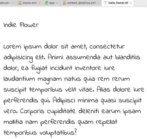 Pré-visualização da fonte Indie Flower