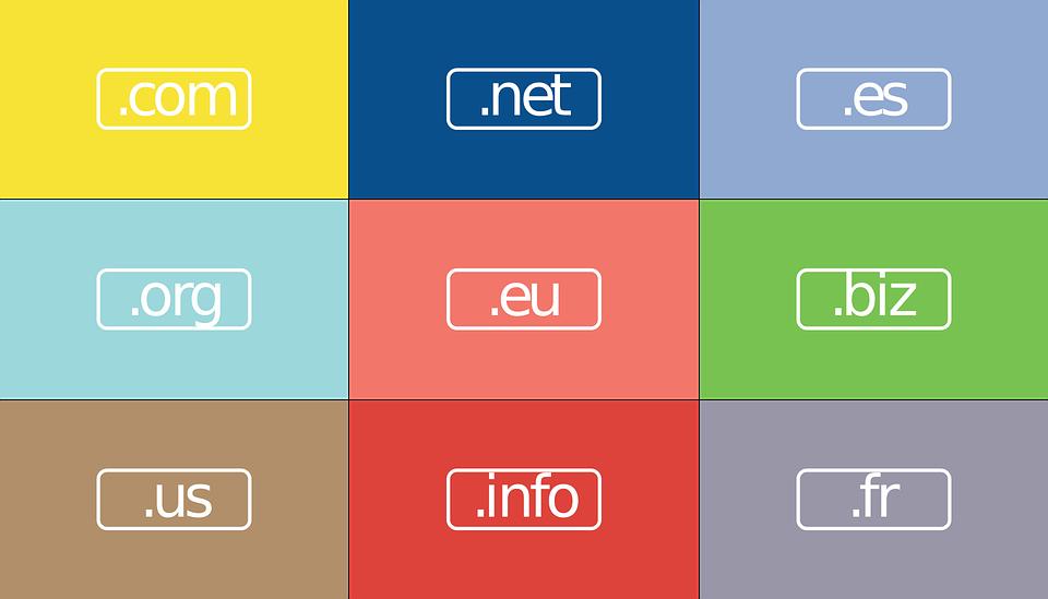 Tipos de domínios de Internet