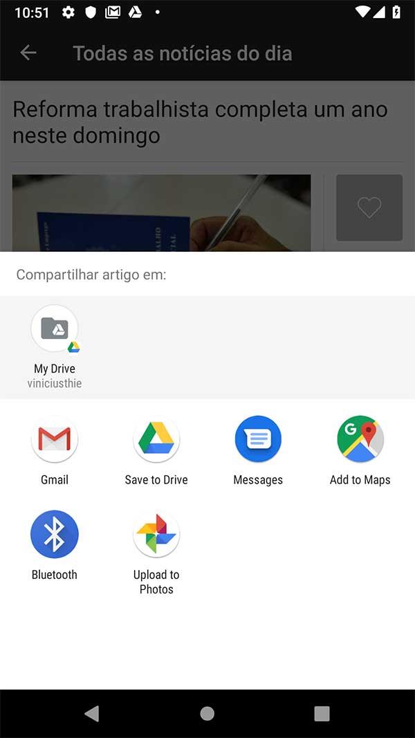 Android Chooser Dialog padrão