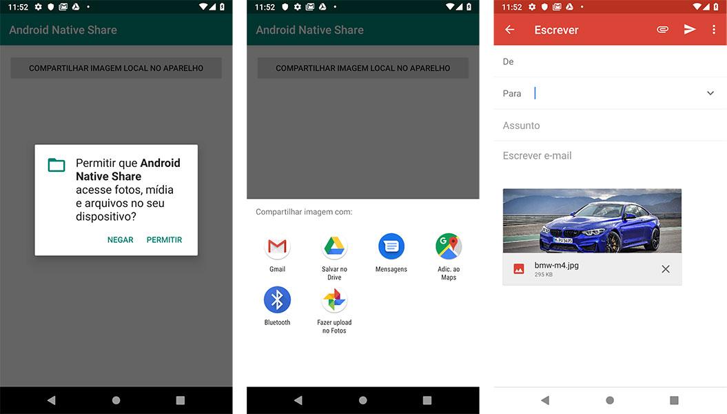 Compartilhamento de imagem local no SDCard Android