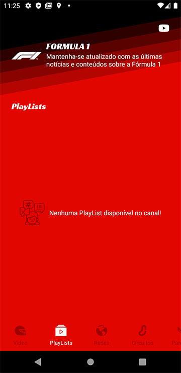 Nenhuma PlayList disponível