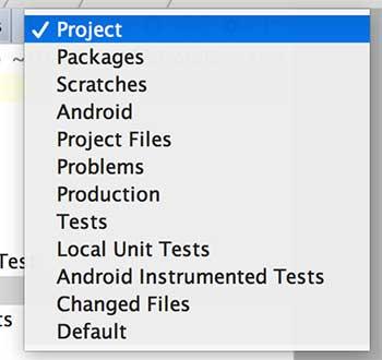 Visualização de projeto como Project