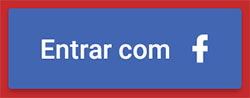 Botão com background azul customizado para Facebook login