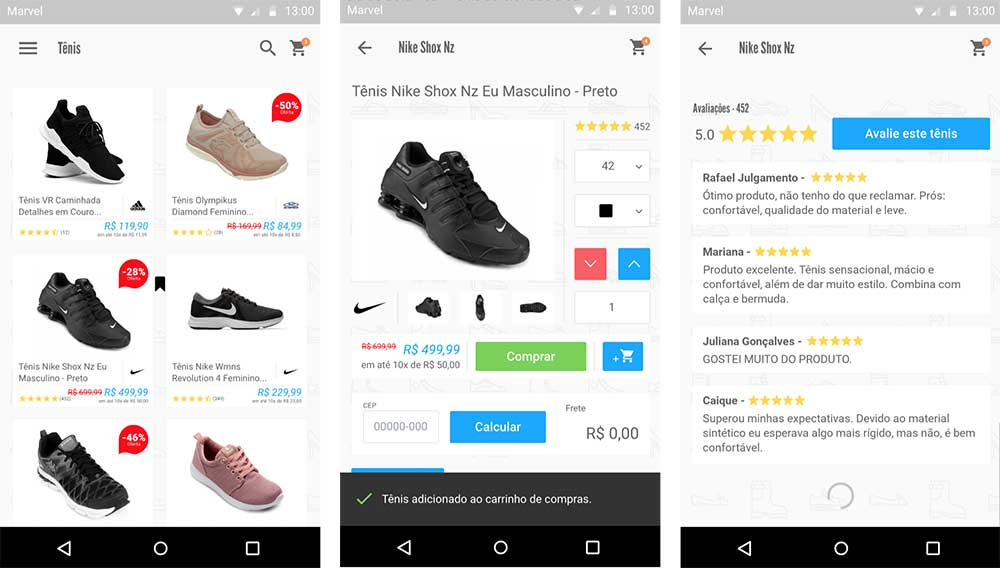 Android mobile-commerce