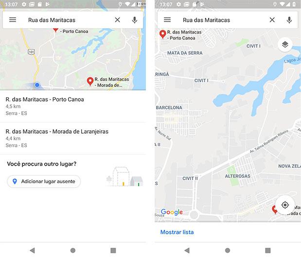 Endereços de acordo com o posicionamento do usuário - Google Maps Android