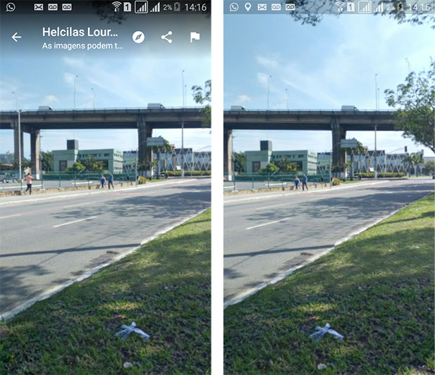 Stree View do Shopping Vitória - Google Maps Android