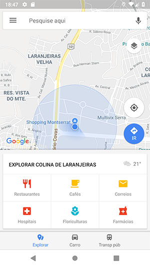 Shopping Montserrat no Google Maps Android