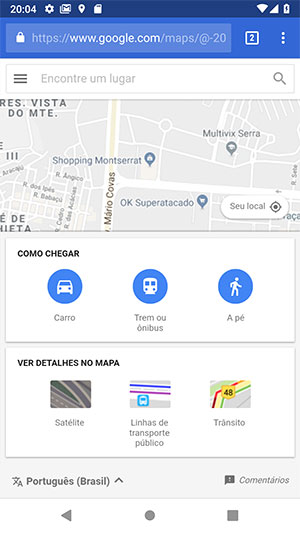 Shopping Montserrat no Google Maps Web