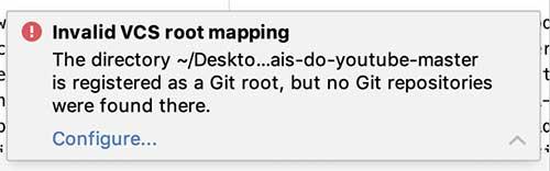 Alerta de erro Git