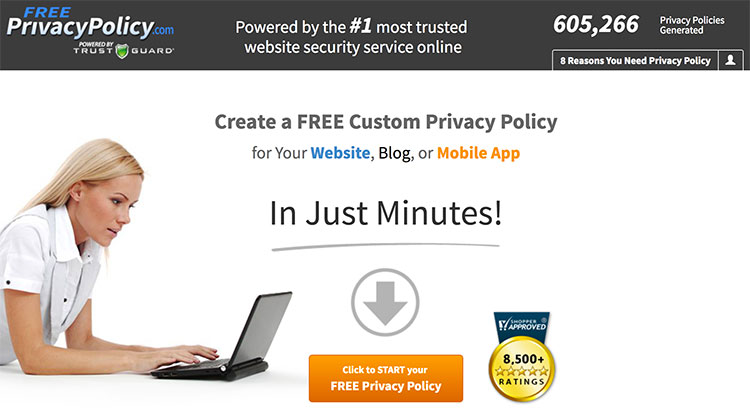 Home page da Free Privacy Policy