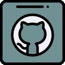 Ícone vetorial do item GitHub da área de Redes do app