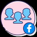 Ícone vetorial do item Grupo Facebook da área de Grupos do app