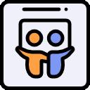 Ícone vetorial do item SlideShare da área de Redes do app