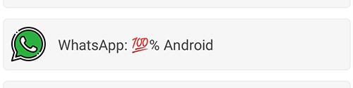 Item de lista com código unicode sendo interpretado pelo sistema Android
