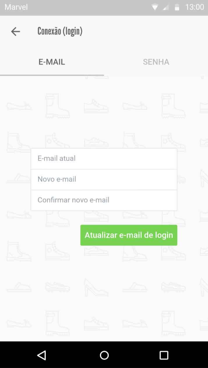 Atualização e-mail